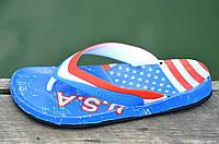 """Вьетнамки, шлепанцы, сланцы мужские легкие ЭВА, силикон """"Америка"""" Украина (Код: 790а), фото 1"""