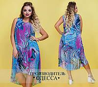 Платье с принтом морская гладь