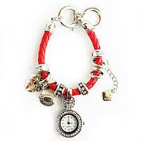 Часы-браслет Pandora (Пандора) красные, фото 1