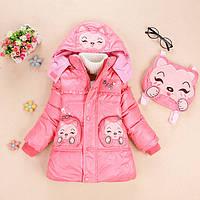 Куртка теплая на девочку+ рюкзачок