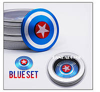 Спиннер металический Щит Капитана Америка Синий