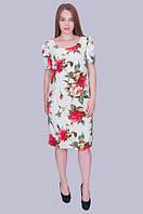 Белое платье в шикарные цветы