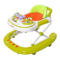Детские ходунки Carrello 2 в 1 op-Top CRL-4101 Green. Силиконовые колеса!!!