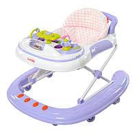 Детские ходунки Carrello 2 в 1 op-Top CRL-4101 Purple. Силиконовые колеса!!!