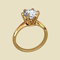 Колечко из золота помолвочное бриллиантовый