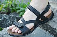 Босоножки, сандали мужские черные мягкие, практичные натуральная кожа (Код: 800а) Только 43р!