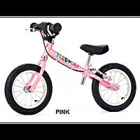 Детский беговел Yedoo TOO TOO B 2+ (pink), велокат розовый