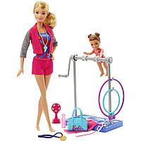 Игровой набор Barbie тренер по гимнастике, (Barbie Gymnastic Coach and Student Dolls Playset), Mattel,