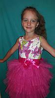 Детское платье Бабочки , розовое