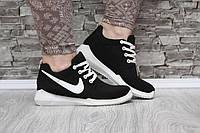 Кроссовки Nike черные текстильные, фото 1