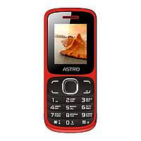 """Мобильный телефон Astro A177 Red (2SIM) 1,77"""" 32/32 МБ+SD 0,08 Мп оригинал Гарантия!"""