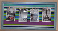Настенная доска с прищепками для записок и фотографий