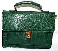 Женский стильный клатч на цепочке 23*16 (зеленый)