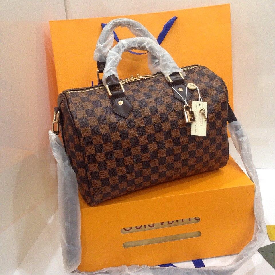 d4bb2d0fcbf7 Сумка Louis Vuitton Speedy Damier Eben, цена 2 240 грн., купить в Киеве —  Prom.ua (ID#499954765)