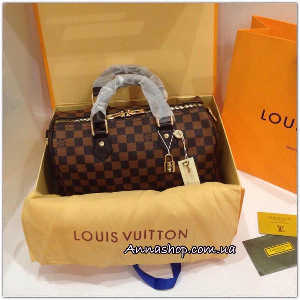 e11e05bac319 Сумка Louis Vuitton Speedy Damier Eben, цена 2 240 грн., купить в ...