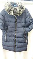 Пальто для девочки с опушкой