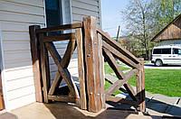 Терасні перила деревяні структуровані фарбовані
