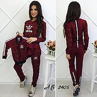 Спортивный костюм Adidas мама S M L ребёнок детский 3 4 5 6 лет красный бордовый, фото 1