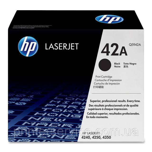 Картридж HP Q5942A (42A) black для принтеров HP LaserJet 4250, LJ 4240, LJ 4350 series