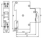 "Диффер. автоматический выключатель KZS 1МSUP С 10/0,03 тип А (6kA) 1мод., подкл. пит. ""Снизу"", фото 3"
