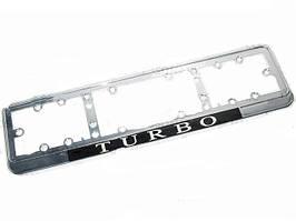 Рамка под номер NEON-Turbo/хром/стекло/подсветка (шт.)