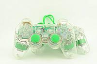 Джойстик PC проводной USB c подсветкой К800A двойной зеленый