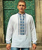 Вышиванка мужская (L) -42 ворот-  домоткана тканина