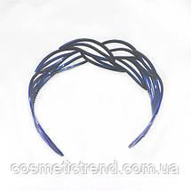 """Обруч для волос синий """"Застывшее кружево"""" (Франция), фото 3"""