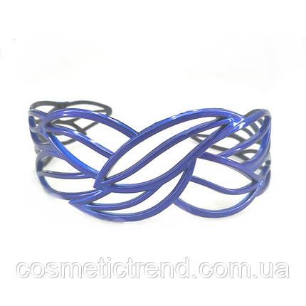 """Обруч для волос синий """"Застывшее кружево"""" (Франция), фото 2"""