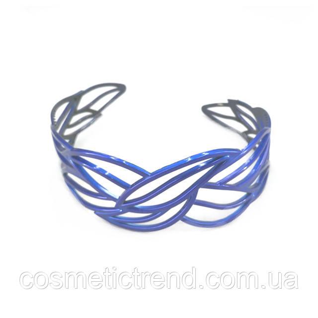 """Обруч для волос синий """"Застывшее кружево"""" (Франция)"""