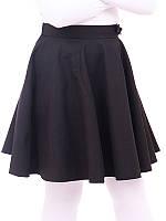 Подростковая школьная юбка ЛЮСИ черная и синяя