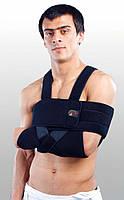Бандаж для плеча и предплечья сильной фиксации (повязка Дезо). Размер UNI. Синий, черный, серый
