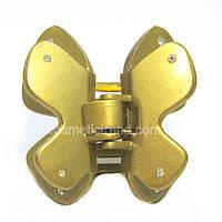 Заколка-краб золотистая бабочка со стразами 128073 (Франция)