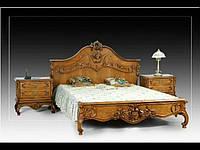 """Ліжко різьблене з натурального дуба """" Корона Королеви"""""""