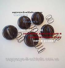 """Набор ручек для плиты """"Гефест"""" ножка 2 см(GEFEST) (5 ручек)(коричневые). код сайта: 7020"""