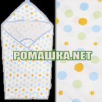 Детское байковое (фланелевое) уголок-полотенце после купания новорожденного 95х95 см 100% хлопок 2968 Голубой3