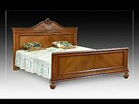"Ліжко різьблене з натурального дуба ""Елегантна Корона"""