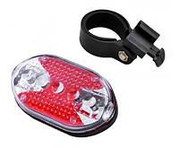 Мигалка задняя фонарь для велосипеда горизонтальная 5 красных светодиодов SKU0000774