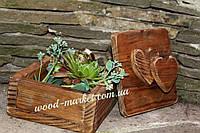 Короб из дерева для колец в стиле рустик
