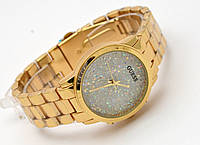 Часы женские GUESS - золотистые в кристаллах
