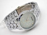 Часы женские GUESS - серебристые в кристаллах, фото 1