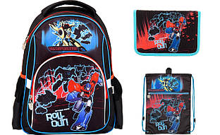 TF17-513SНабор школьный Kite(Рюкзак+сумка+пенал) Transformers