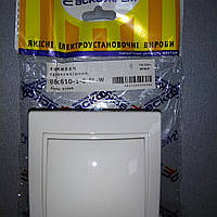 Выключатель 1-кл. BBсб10-1-0-Fl-W / Вимикач. 1-кл. BBсб10-1-0-Fl-W (білий)