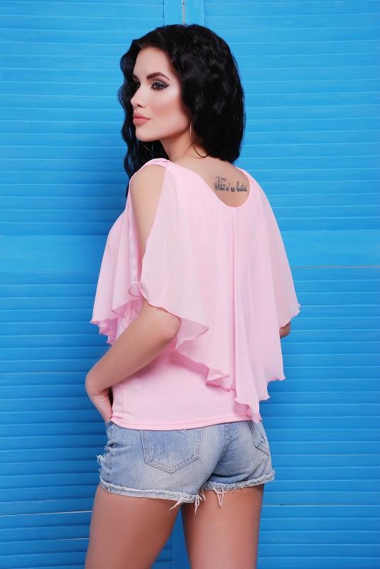 Красивая летняя блуза с воланами