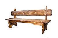 """Лавка """"Карпати"""" деревяна під старовину"""