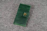 Кожаный кошелек ручной работы Frico   Зеленый Винтаж, фото 1