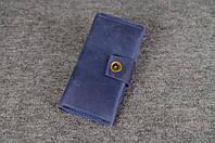 Кожаный кошелек ручной работы Frico | Синий Винтаж, фото 1