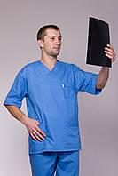 Синий медицинский костюм от производителя