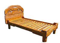"""Ліжко""""Вогонь""""дерев'яне з масиву під старовину"""