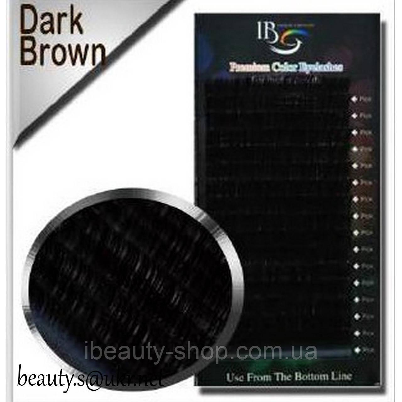 Вії I-Beauty (Ай-Б'юті) мікс(20 стрічок), Чорний шоколад,СС 0,07 8-14мм